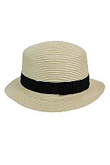 Straight Top Boater Hat Style