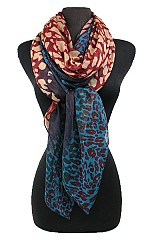 Block Animal Pattern Scarves