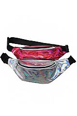 Shiny Retro Fanny Pack Rave Festival Metallic Hologram