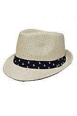 Mini Anchor Multiple Print Weaved Fedora