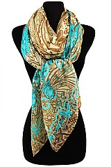 Colorful Paisley Floral Scarves