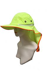 Full Bill High Visibility Neck Shade with Reflective Tape Hat