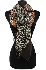Block Animal Pattern Soft Scarves
