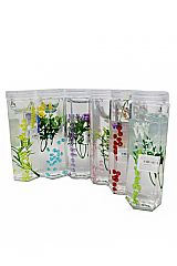 3D Floral Infused Clear Jelly Slime Tube