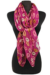 Leaf Multicolor Pattern Soft Scarves