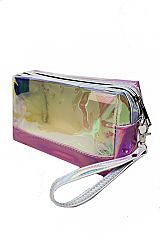 Cubic Pink Reflective Multi Use Cosmetic Bag