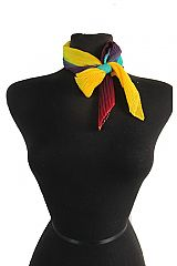 Abstract Multi Colored Ribbed Diamond Cut Sheer Scarves