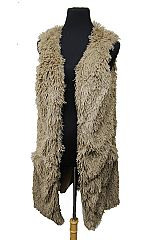 Fluffy Fashion Fur Vest With Frontal Pockets
