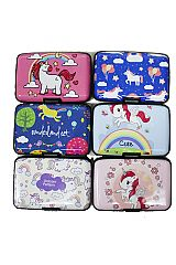 Fairy Tale Unicorn Print Credit Card Safe Protection Card Holder Hard Case