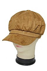 Suede Textured Newsboy Cap