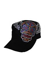 Dia De Muertos with Wings Rhinestone Cap