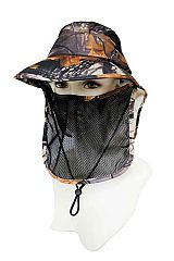 Wide Brim With Neck Cover and Mesh Mask Design Outdoor Visor Hat