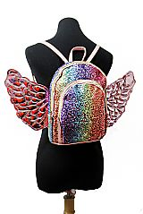 Glitter shimmery Angel Wing Mini Backpack