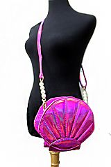 Mermaid 3D Sea Shell Metallic Petite Cross Body Bag