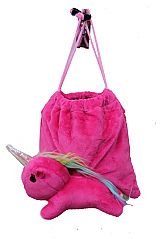 Unicorn 3D Plush Toy Drawstring Bag