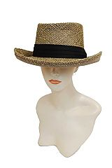 Seagrass Gambler Inspo Boho Hat Pork Pie Crown Unisex Fedora Hat