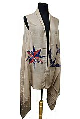 Stars and polka Dot Printed Miniature Stars Anchor Sea Detail Softness Cardigan Kimono Style