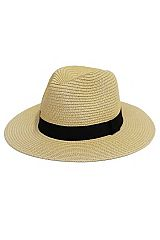 Black Band Detailed Toyo Straw Panama Hat