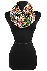 Aztec and Missoni Multi Colorful Infinity Scarf
