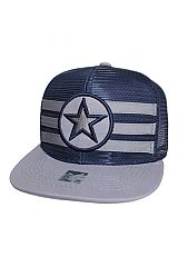 Mesh Fabricated Sport Team Star Design Snap Back