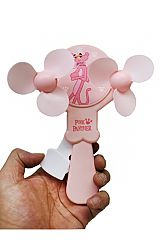 Pink Panther Double Propeller Hand Held Fan