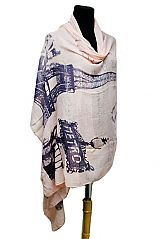 Oversized Paris At It's Finest Scenic Overlook Printed Scarves