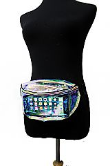 Iridescent Clear Fashion Round Pattern Fanny Pack