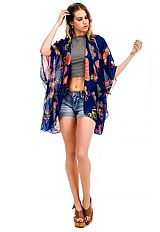 Majestic Butterfly sheer Chiffon Summer Collective Kimono