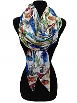 Feather Print Scarves & Wraps