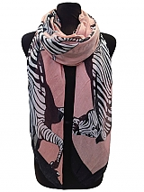 Big Zebra Print Scarves