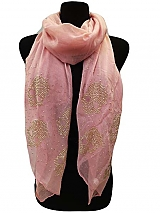 Rhinestone Skull Print On Soft Scarves