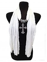 New Color Cross Charm scarf.