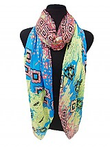 Square Pattern Colorful Scarf.