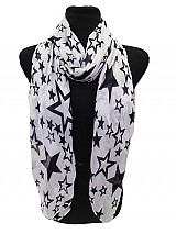 Star OR Love Skull Print Soft Scarf