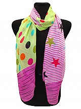Polka dot & Star Stripe Scarf
