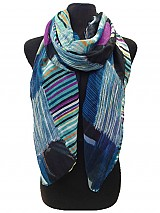 Striped contrast scarf