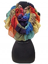 Color Block Bubbly Infinity scarves