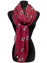 Evil Eye Pattern Woven Scarves
