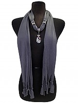 Jersey Jewel Scarves with Charm