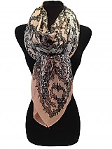 Woven Lace Flower Pattern Scarves