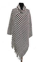 Stripe design Knitted Thick Big Poncho