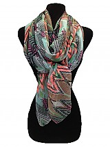 Multi Chevron pattern softness scarf