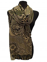 Flower & animal Print pashmina thick scarf