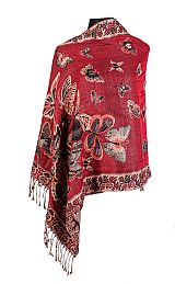 Butterfly Wonderland shimmered Pashmina Scarves