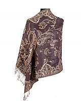 Abstract Vineyard Paisley Printed Shimmered Pashminas