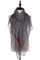 Designer Styled Maximum Plaid Scarves