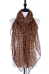 Luxurious Animal Print Cheetah Printed Scarves