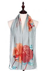 Large Over Sized Printed Peonies Scarves