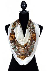 Silky Luxurious Vineyard Pattern Scarves