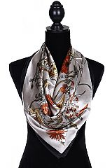 Autumn Gypsy Chic Silky Scarves With Rustic Vibes